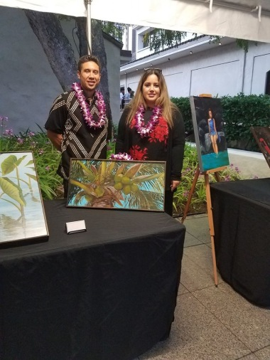 Artists Jordan Wolfe & Ana Ko'olau-Sekona post together showing their beautiful works