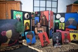 Artwork by Brazen Culture (Susan Manuma-her cute grandaughter standing in for the artist!)